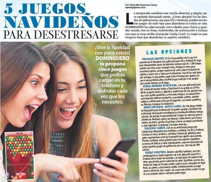 Pressreader Dominguero 2018 12 23 5 Juegos Navidenos Para