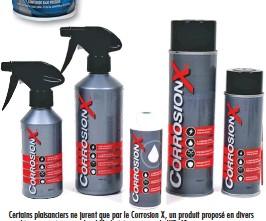 ??  ?? Certains plaisanciers ne jurent que par le Corrosion X, un produit proposé en divers conditionnements, mais plus difficile à trouver que le WD-40.