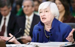 ??  ?? Federal Reserve Board Chairwoman Janet Yellen speaks about the Federal Reserve's semiannual report during a hearing of the Senate Banking, Housing and Urban Affairs Committee on Capitol Hill February 14, 2017 in Washington, DC. (AFP)