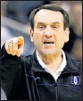 ?? By Bob Leverone, AP ?? Goal: Mike Krzyzewski and Duke are chasing a fifth title.
