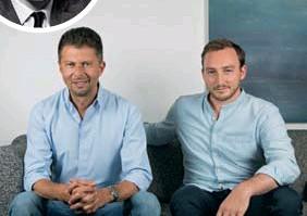 ??  ?? Bottom: Marc Ambrus (left) and Guillaume Kuntz.