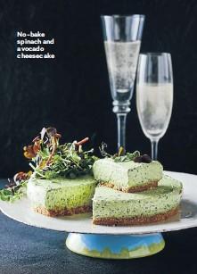 ??  ?? No-bake spinach and avocado cheesecake