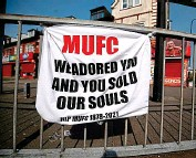?? PA ?? Left behind: United fan's Old Trafford message