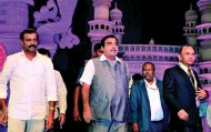 ??  ?? Union Minister for Road Transport and Shipping Nitin Gadkari at the 77th annual Indian Road Congress in Hyderabad on Saturday G_RAMAKRISHNA