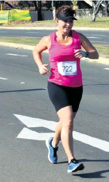 ??  ?? Corlia Jooste looking comfortable during the 8km run