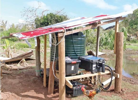 ?? Photo: Sea Mercy Fiji ?? A proto type solar-powered desalination unit.