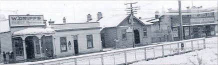??  ?? Fertile ground: Lumsden and the railway station as it was in the 1890s.