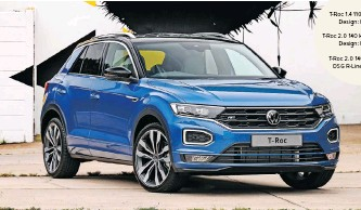 ??  ?? THE T-roc is an eye-catcher with its modern design.