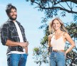 ??  ?? Home And Away stars Sam Frost and Ethan Browne.