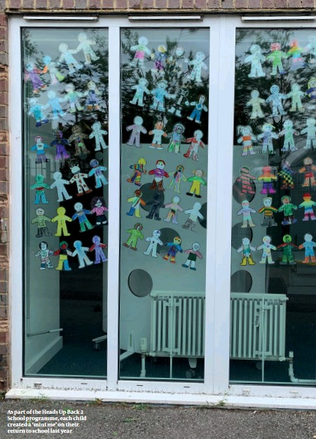 ??  ?? As part of the Heads Up Back 2 School programme, each child created a 'mini me' on their return to school last year