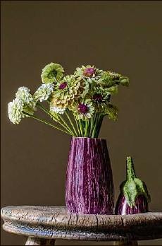 "?? Photo by Pattie Garrett ?? ""Flowers and Eggplant,"" photographed by Pattie Garrett."