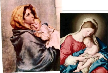 ??  ?? The many depictions of sleeping infants include nativity scenes of Mary and baby Jesus.