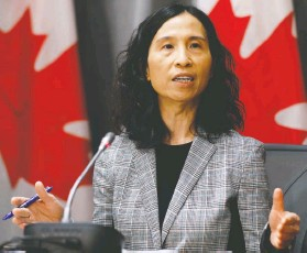 ?? BLAIR GABLE / REUTERS FILES ?? Dr. Theresa Tam, Canada's chief public health officer, says people need to plan ahead to make sure their Thanksgiving celebrations are safe.