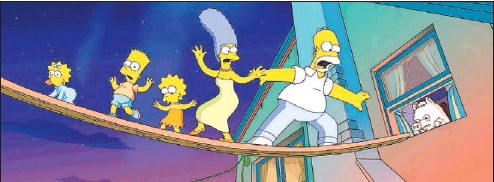 Pressreader Times Colonist 2007 07 27 Simpsons Stupidity Fills Big Screen