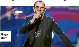 ??  ?? Ringo Starr
