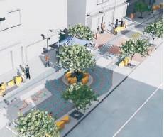 """??  ?? Imagen de cómo luciría la """"plaza de la seguridad vial"""" en Santa Rosa luego de la millonaria intervención."""