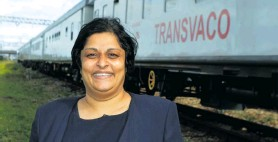 ??  ?? Transnet's Shamona Kandia accompanies the Vaccine Train to the Eastern Cape. Photo: Deon Ferreira