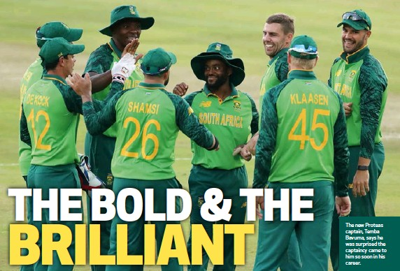 ??  ?? The new Proteas captain, Temba Bavuma, says he was surprised the captaincy came to him so soon in his career.