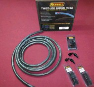 ??  ?? 14 The Russell Twist Lok hose and fitting system is rated for 250 psi, plenty for our EFI system, and doesn't require any clamps to secure.