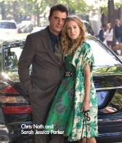 ??  ?? Chris Noth and Sarah Jessica Parker