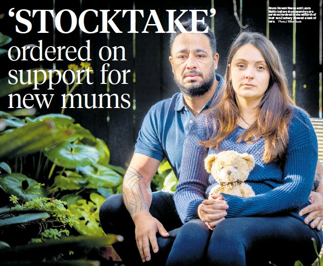 ?? Photo / Mike Scott ?? Bruno Rovani Neves and Laura Mallin believe the maternity care services involved in the stillbirth of their son Zachary showed a lack of care.