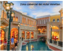 ??  ?? Zona comercial del Hotel Venetian