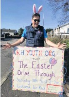 ??  ?? Lockerbie's RH Youth Organisation gave the town plenty of Easter fun on Saturday