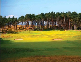 ??  ?? FROM TOP: Hillbark Hotel, the smallest luxury hotel in England is big on quality; The 9th at Formby, a links that should be part of the Open rota.