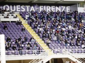 ?? LAPRESSE ?? La tribuna del Franchi durante Fiorentina-Sampdoria