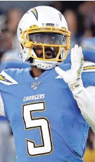 ?? ASSOCIATED PRESS ?? Chargers quarterback Tyrod Taylor will be week to week after having his lung punctured while receiving an injection.