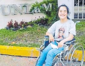 ??  ?? Futuro. La joven de Ramos Mejía inició su vida universitaria este 2021.