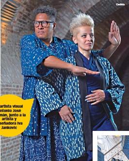 ??  ?? El artista visual Antonio José Guzmán, junto a la artista y diseñadora Iva Jankovic Cedida