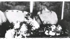 ??  ?? Aufbahrung nach dem Tod des Kaisers am 21. November 1916