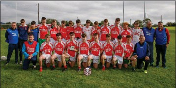 ??  ?? Bal­li­na­glen, who de­feated Pearse Gaels to claim the Mi­nor 'C' foot­ball shield ti­tle.