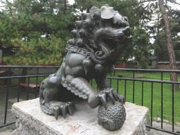 ?? A bronze lion sculpture from ancient China IMAGES © SHUTTERSTOCK ??
