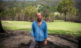 ?? Photograph: Annette Ruzicka/MAPgroup courtesy of Australian Conservation Foundation ?? Beekeeper Adrian Iodice lives in Brogo on the south coast of NSW. He says after the black summer bushfires, when he went to check on a hive that had long been inside a tree trunk on his property, 'a lot of the wax had melted out, with just the residue left. I got quite emotional.'