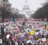 ??  ?? The Women's March in Washington on the day after Donald Trump's inauguration