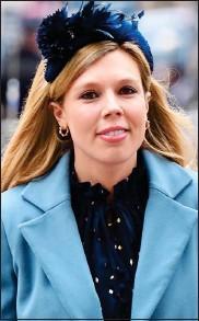 ??  ?? 'ON THE MEND': Boris's fiancee Carrie Symonds