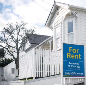 ?? Photo / NZME ?? Auckland rents across all suburbs rose 2.9 per cent over the past year, Barfoot & Thompson statistics show.