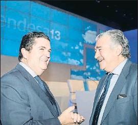 ?? . ?? Borja Prado y José Bogas, en una junta de accionistas