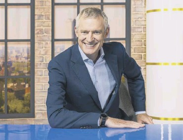 ?? PICTURES: PA ?? Jeremy Vine and co-presenter Storm Huntley, main; in the studio, above