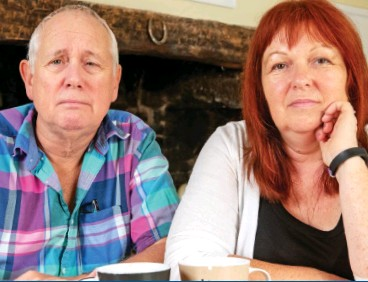 ??  ?? Twice rejected: Peter Bull, who has terminal prostate cancer, with his wife Eileen