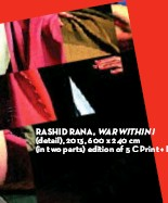 ??  ?? RASHID RANA, WAR WITHIN I (detail), 2013, 600 x 240 cm (in two parts) edition of 5 C Print + Diasec.