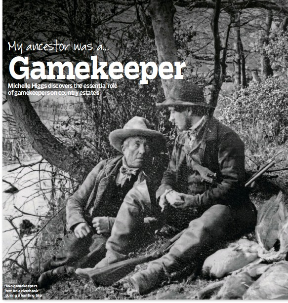 ??  ?? Two gamekeepers rest on a riverbank during a hunting trip