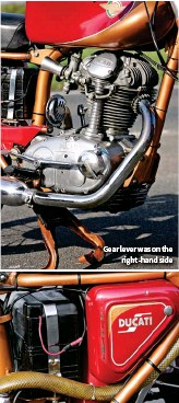 ??  ?? Gear lever was on the right -hand side