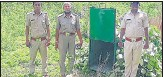 ?? HT ?? The forest department has installed two cages at Singathwara forests in Udaipur to catch the killer leopard.