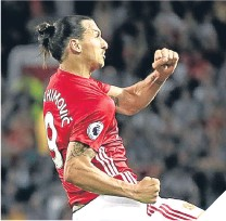 ??  ?? United's Zlatan Ibrahimovic.