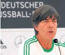 ??  ?? Joachim Low: forced to make a late change: .