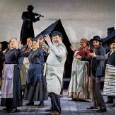 ??  ?? Opposite At Grange Park Opera, December 2020. Above As Falstaff, 2008; in Fiddler on the Roof, 2015