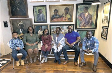 ??  ?? One of the founding Black families of Maryland together at Water's Edge Museum. Garnell Henry III, Candace Henry, Gabrielle Henry, Brenda-Moaney Henry, Garnell Henry, Dontae Henry.
